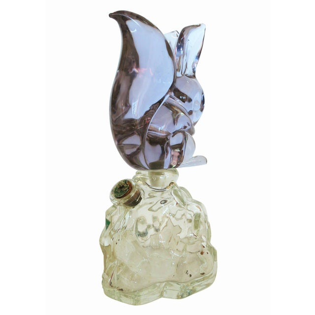 Archimede Seguso Alabastro Murano Squirrel Decanter Bottle - Image 3 of 7