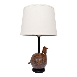 1960s Aldo Londi for Bitossi Italian Ceramic Partridge Bird Lamp For Sale