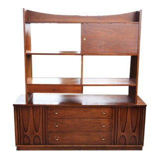 Broyhill Brasilia Credenza and Wall Unit - 2 Pieces For Sale