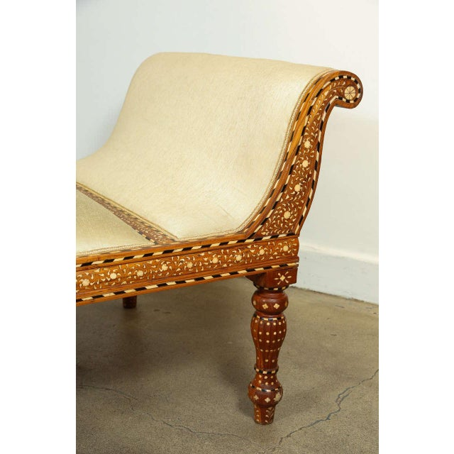 Anglo-Indian Anglo-Indian Bone Inlaid Day Bed For Sale - Image 3 of 9