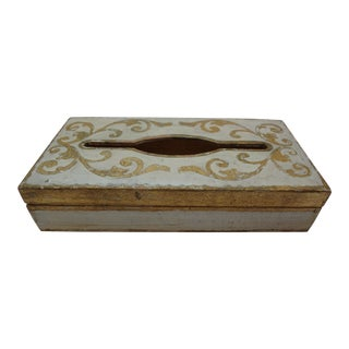 Vintage Florentine Gold Gilt Tissue Box For Sale