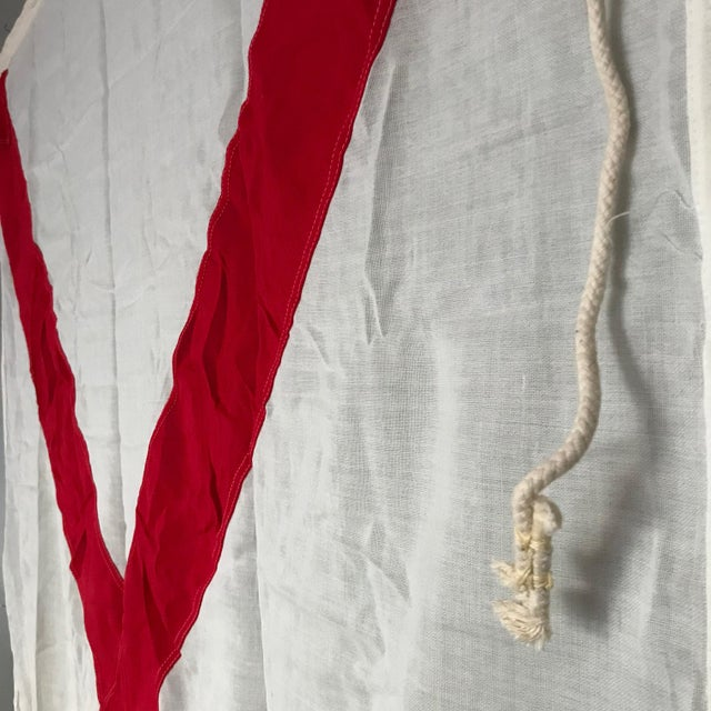 "Vintage ""V"" Nautical Flag - Image 3 of 5"