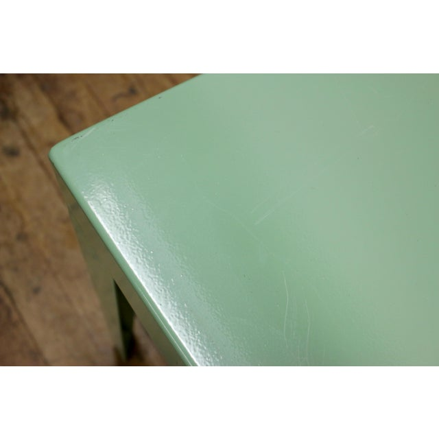1950s Mint Green Mid-Century Powder Coated Steel Coffee Table For Sale - Image 4 of 13