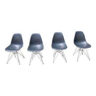 Eames Molded Plastic Side Chairs- Set of 4 For Sale