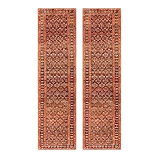 """Antique Pair Persian Kurdish Rug, 3'3""""x 11'6"""" For Sale"""