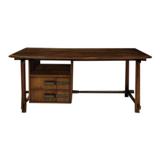 Unique Ico Parisi Desk Produced at Capiago Intimiano Italy by Fratelli Rizzi 1959 For Sale