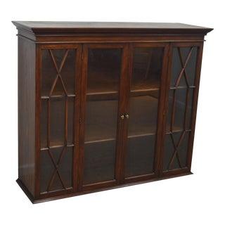 Henkel Harris Mahogany Breakfront Bookcase Hutch Top For Sale
