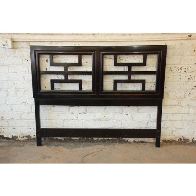 Century Furniture Chin Hua Black Lacquer Full Size Headboard - Image 2 of 6
