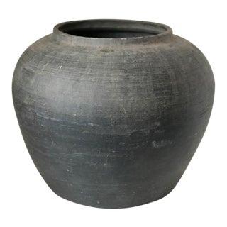 Vintage Rustic Black Pot, 1960s For Sale