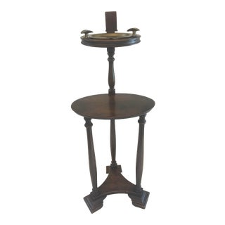 Vintage Smokers Stand With Original Brass Ashtray For Sale