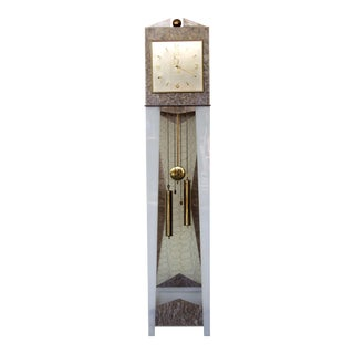 Moss Mid-Century Grandfather Clock Lucite Lamp For Sale