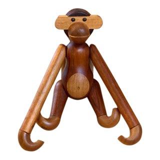 Kay Bojesen Teak and Limba Wood Toy Monkey For Sale