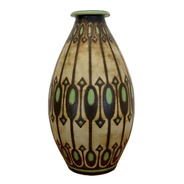 Black 1920s Charles Catteau Vase For Sale - Image 8 of 8