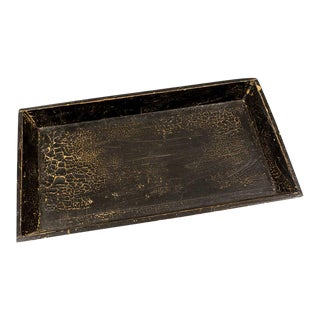 Vintage Distressed Wood Tray For Sale