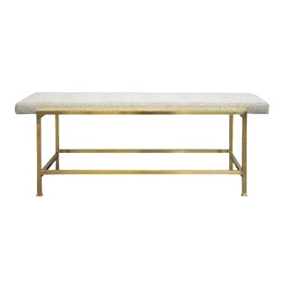1950s Edward Wormley for Dunbar Brass Frame Bench For Sale