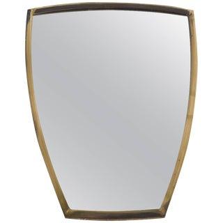 Brass Wall Mirror 1950s Scandinavian For Sale