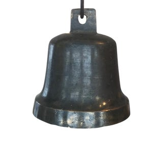 19th Century Neoclassical Black Cast Iron Bell
