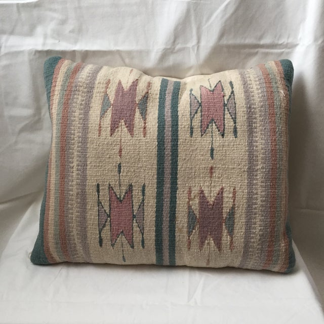 Southwestern Pillows And Rugs : Southwestern Style Wool & Canvas Rug Pillow Chairish