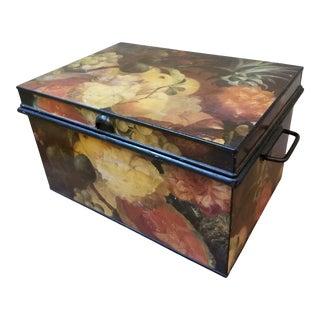 Antique Tole Storage Box For Sale