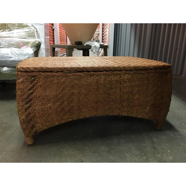 Wicker Center Table/Trunk with Storage - Image 2 of 7