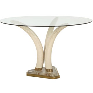 1950s French Faux Tusk Table For Sale