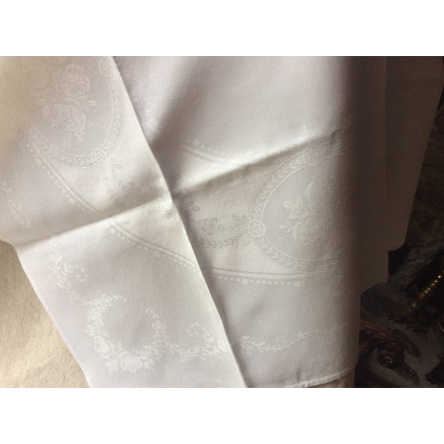Recently we went to an amazing brocante French fleamarket in Olde Quebec City. Set of 10 Antique Oversize Lap White Damask...
