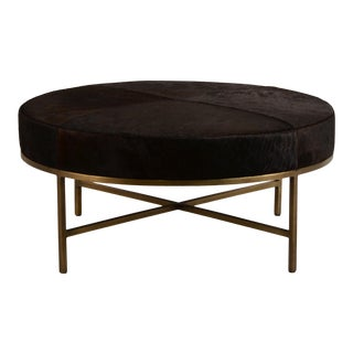 Medium 'Tambour' Ottoman by Design Frères For Sale