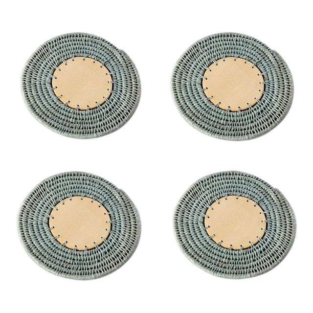 Round Sisal Coasters Pool - Set of 4 For Sale