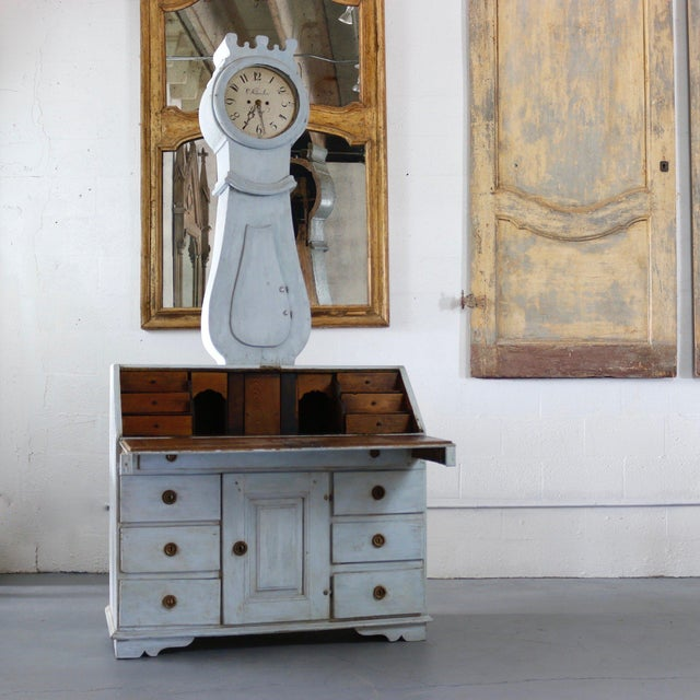 18th Century 18th Century Painted Swedish Clock Desk For Sale - Image 5 of 5