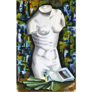 C. Carlinet, French Painting - Marble Torso For Sale