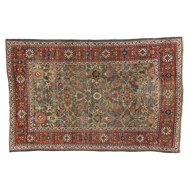 Antique Persian Sultanabad with Modern Design For Sale In Dallas - Image 6 of 7