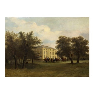 """Circa 1880s """"Before the Hunt"""" English Landscape Painting by John Syer, Jr. For Sale"""