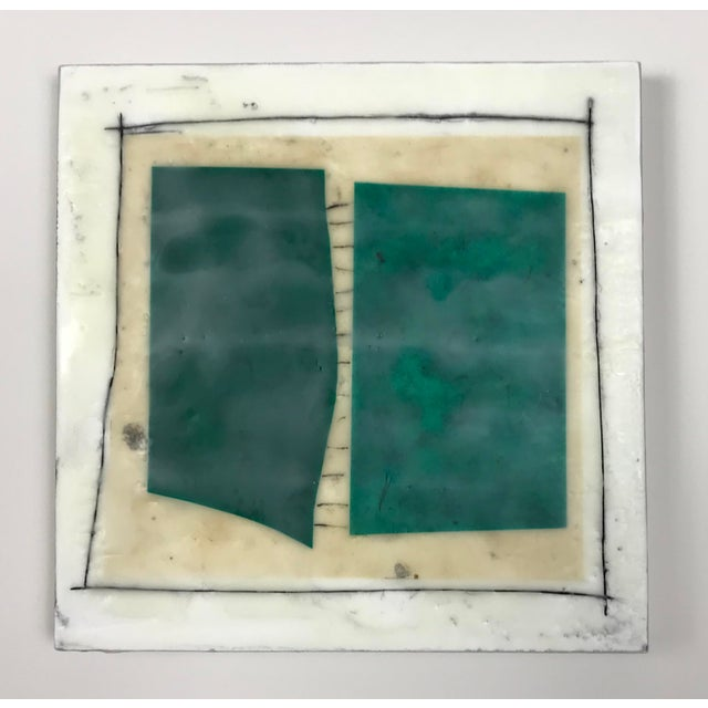 """Gina Cochran """"Road Trip"""" Encaustic Collages - 16 Pieces For Sale - Image 12 of 13"""