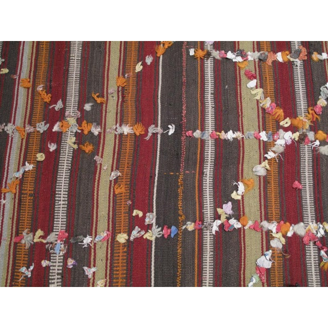 Animal Skin Pardah (curtain) with ribbons For Sale - Image 7 of 8