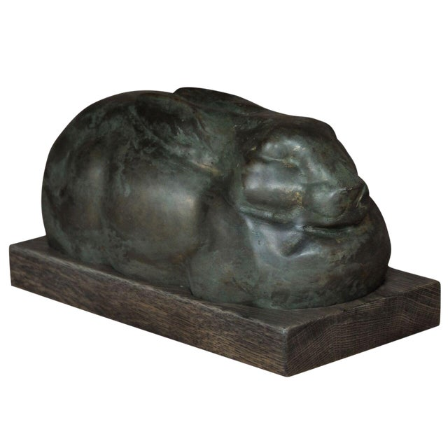 Sarreid Ltd Art Deco Iron Rabbit - Image 1 of 2