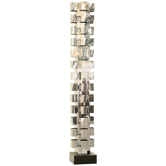 Skyscraper Chrome Floor Lamp, Signed Curtis Jere - Image 1 of 5