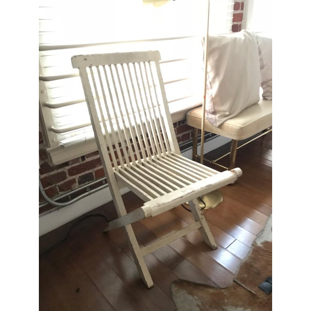 Late 19th Century Antique Swedish White Chair For Sale In Los Angeles - Image 6 of 6