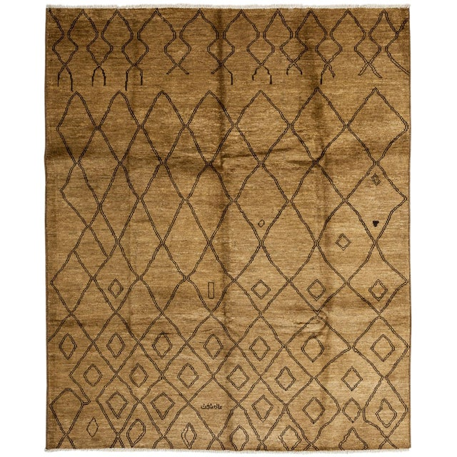"New Moroccan Hand Knotted Area Rug - 8'3"" x 10'1"" - Image 1 of 3"