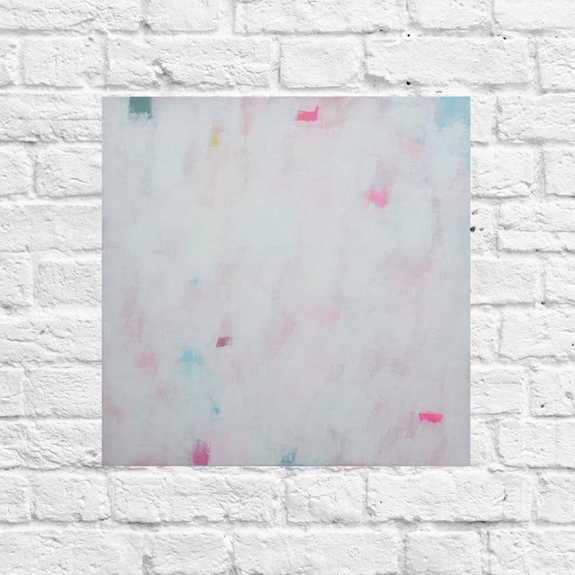 """""""Up and Away"""" is an original abstract painting by Susie Kate. Created in the studio in 2016, this piece is a colorful..."""