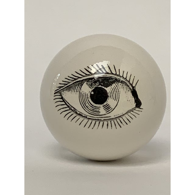 Ceramic Fornasetti Surrealist Ceramic Eyeball Paper Weight For Sale - Image 7 of 7