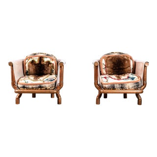 Pair of Joel Otterson Endangered Species Chairs For Sale