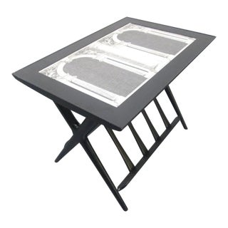 Italian Modern Side Table Style of Piero Fornasetti For Sale