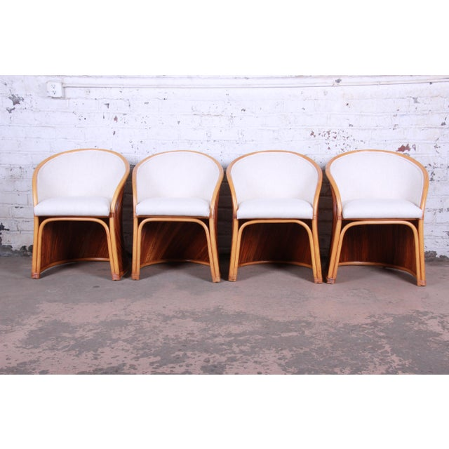 White Henry Olko Mid-Century Bamboo Dining Set, Circa 1978 For Sale - Image 8 of 13