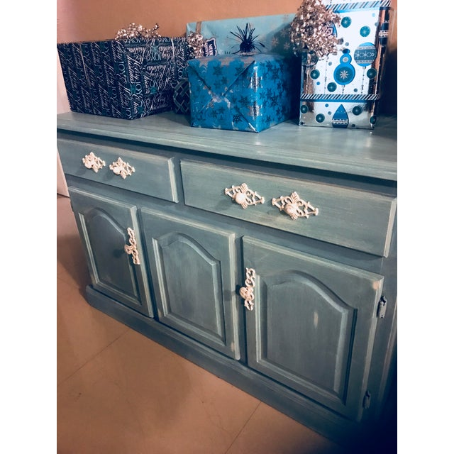 """Blue French Provincial """"Annabel"""" China Cabinet - Image 9 of 11"""