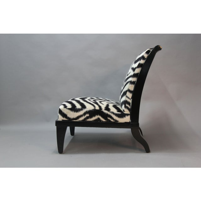 Holly Hunt Slipper Chairs - Pair - Image 3 of 9