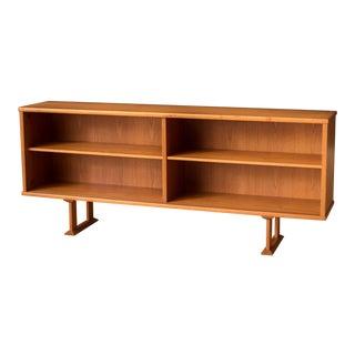 Vintage Danish Teak Bookcase Console Cabinet For Sale