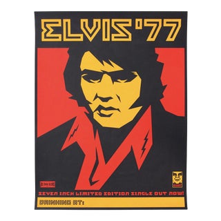 1990s Shepard Fairey Elvis '77 Original Screenprint For Sale