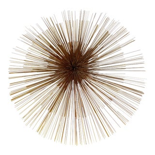 C. Jere Large Pinwheel/Pom Pom Three-Tiered Wall Sculpture Signed & Dated 1982 For Sale