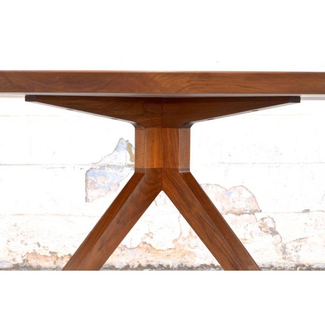 Not Yet Made - Made To Order 'Sputnik' Dining Table in Solid Walnut, Built to Order by Petersen Antiques For Sale - Image 5 of 11