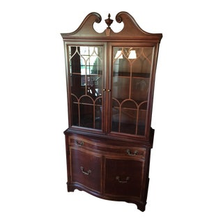 Early 20th Century Cherry China Cabinet For Sale